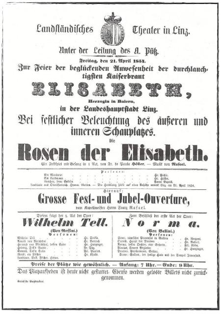 Mariage impérial en avril 1854 — Les festivités de Linz