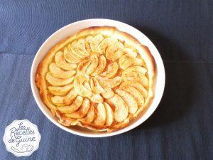 Une tarte fine aux saveurs de pomme et de cannelle