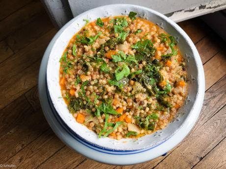 Les pâtes du week-end – Fregola sarde au kale