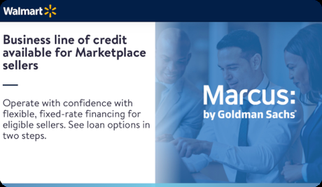 Line of credit for Walmart marketplace sellers
