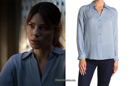 LUCIFER : Chloe's striped silk blouse in S5E01