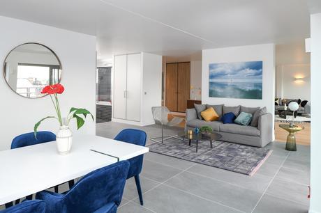 double séjour sol mélange carrelage parquet grés ceram design intérieur appartement