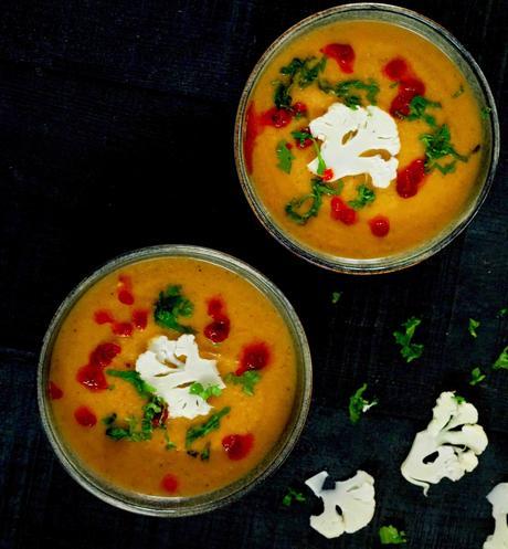 soupe de chou-fleur à la harissa