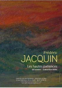 Galerie Les Montparnos – exposition  Fréderic JACQUIN  » Les Hautes patiences »