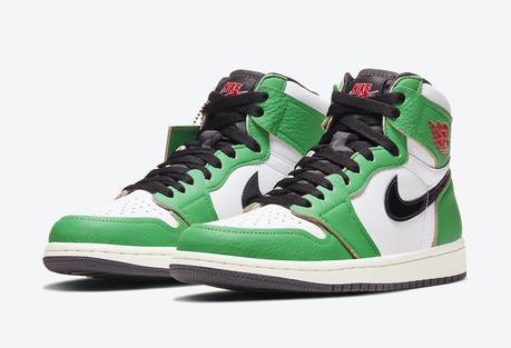 La Air Jordan 1 High Lucky Green se dévoile en images