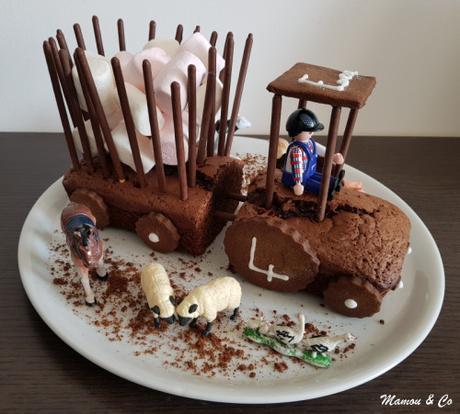 Gâteau tracteur simple et rapide