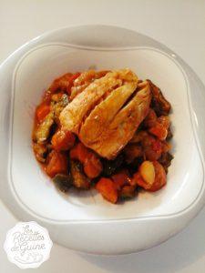 Recette de tajine de légumes avec du poisson