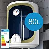 Chauffe-Eau Électrique - Réservoir avec Capacité de 80 Litres, Puissance 1500W, Thermostat à 75 ° C - Ballon d'Eau Chaude, Chaudière Électrique