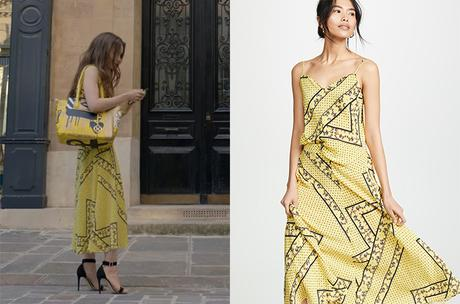 EMILY IN PARIS : Emily'syellow skirt and top in S1E01