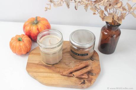 Recette de bougie d'automne au Pumpkin Spice