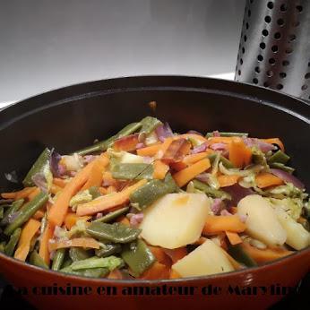 Jardinière de légumes au bacon