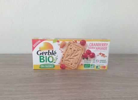 Biscuits sablé Amande Cranberry Bio Gerblé