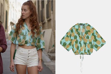 UN SI GRAND SOLEIL : la chemise courte imprimée ananas de Sofia dans l'épisode 521