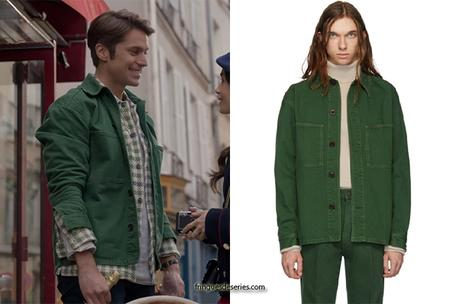 EMILY IN PARIS : Gabriel's green overshirt in S1E10