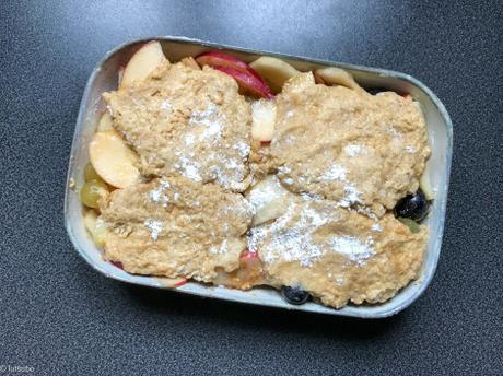 En série… – Cobbler d'automne aux raisins, poires et pommes