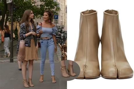 EMILY IN PARIS : EMILY's leather boots in S1E02
