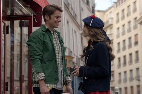 EMILY IN PARIS : Gabriel's green houndstooth shirt in S1E10
