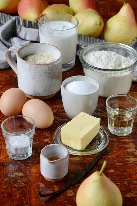 ingrédient moelleux aux poires bio sans gluten - blog recette fait-maison