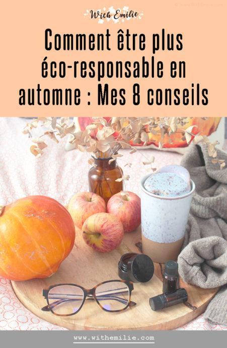 8 façons d'être éco-responsable en automne