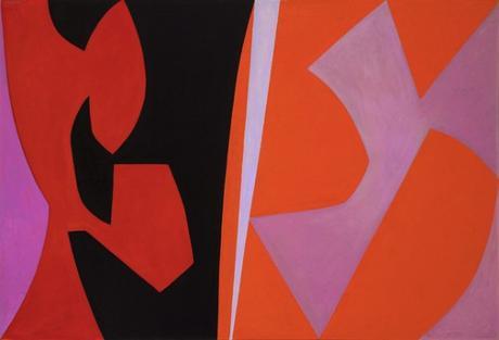 Hard edge painting- Billet n° 338