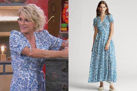AFFAIRE CONCLUE : la robe bleue à fleurs de Sophie Davant
