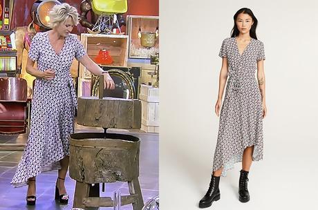 AFFAIRE CONCLUE : la robe asymétrique à fleurs de Sophie Davant