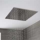Hudson Reed - Pommeau De Douche 40 x 40cm Encastrable Plafond Design Carré Pluie Bienfaisante