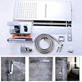 Système de douche ensemble de douche encastré raccord de douche système de douche double fonction douchette mitigeur cascade
