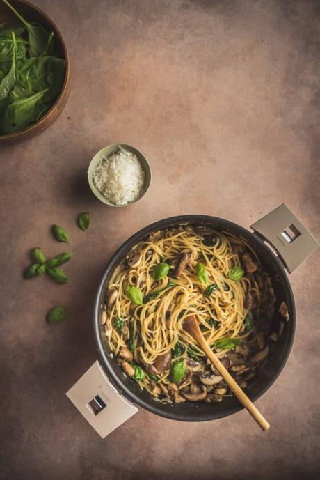 One pot pasta aux champignons