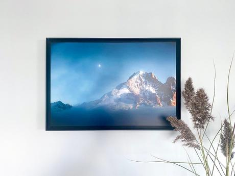 photographies d'art numerotée signée montagne mont blanc alpes encadré