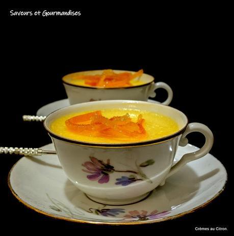 Petites crèmes au citron.