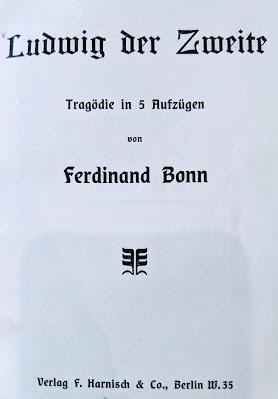 Ferdinand Bonn — Ludwig der Zweite — Titelseite / Page de couverture