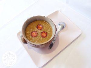 Recette de potage aux lentilles et chorizo