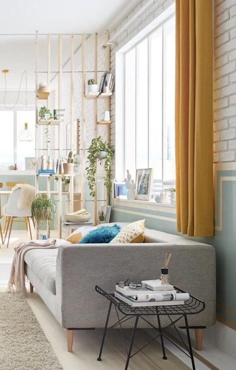 fabriquer soi-même claustra séparation bibliothèque salon - blog création décoration clematc