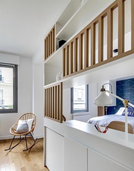 studio transformé en 2 pièces cloison ajourée design bois scandinave - blog déco - clem around the corner