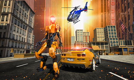 Télécharger Gratuit Police War Robot Superhero: Jeux de robots volants  APK MOD (Astuce) 1