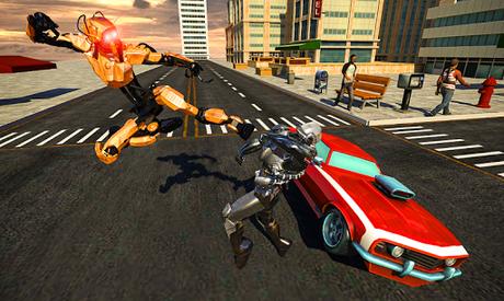 Télécharger Gratuit Police War Robot Superhero: Jeux de robots volants  APK MOD (Astuce) 4