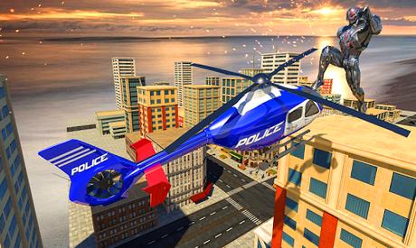 Télécharger Gratuit Police War Robot Superhero: Jeux de robots volants  APK MOD (Astuce) 2
