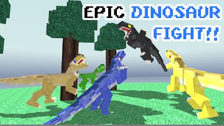 Télécharger Blocky Dino Park: Raptor Attack APK MOD (Astuce) screenshots 4