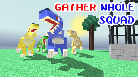 Télécharger Blocky Dino Park: Raptor Attack APK MOD (Astuce) screenshots 1