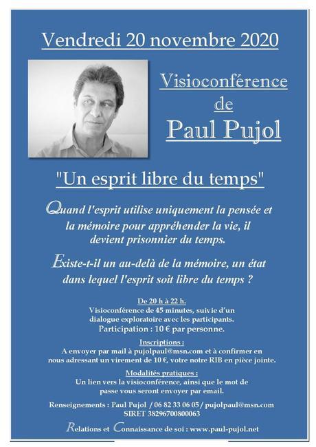 20 novembre 2020: Visioconférence de Paul Pujol.