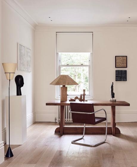 habitat de la capitale anglaise coin bureau retro - blog décoration - clematc