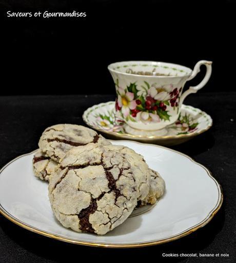 Cookies Chocolat, Banane et Noix d'Ottolenghi.