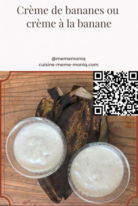 crème de bananes ou à la banane