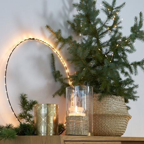cercle lumineux bougeoir doré déco cocooning - blog - clematc