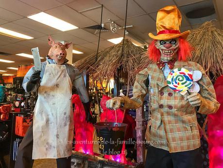 Que trouve-t-on dans un magasin éphémère d'Halloween aux États-Unis ?
