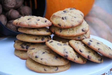 biscuits, potimarron, noix, chocolat