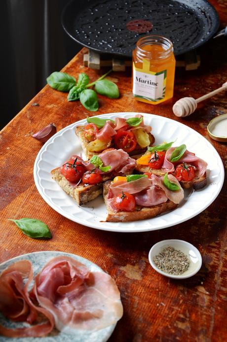 recette tapas Antonin Bonnet Quinsou boucherie Grégoire jambon tomate