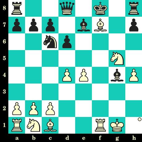 Les Blancs jouent et matent en 2 coups - Schwartz vs Samsonov, Heidelberg, 1908