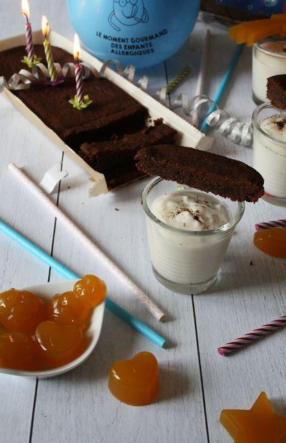 Anniversaire avec le brownie Matatie et autres gourmandises { sans gluten, sans lait, sans œufs }